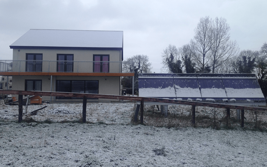 Tri Solar Roofs Transform Passive Houses Into Energy+ Houses Generating  Sufficient Excess Energy To Power An Electric Car.